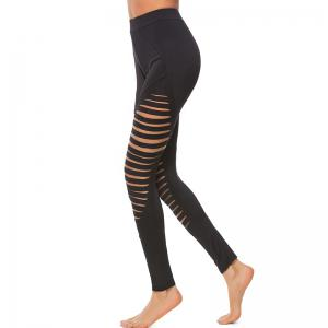 Women's Sexy Hollow Solid Color Yoga Leggings -