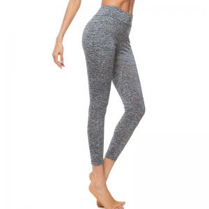 Women's Fashion High-Waist Solid Color Yoga Leggings -