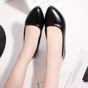 Coarse And Shallow Black Shoes -