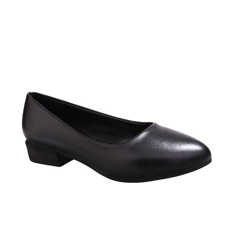 Store Coarse And Shallow Black Shoes
