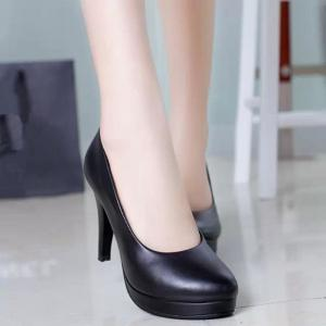 Thin And Round Head OL Professional High Heel Women's Shoes -