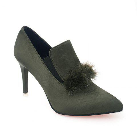 Sale Women's Boots With Pointed Heel Fashionable Suede