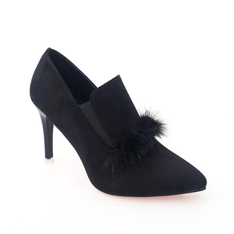 Affordable Women's Boots With Pointed Heel Fashionable Suede