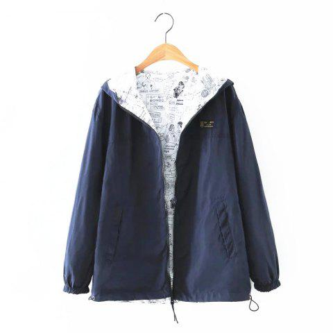 Store New Zipper  on Both Sides Coat