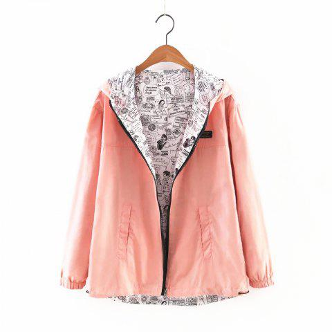 Sale New Zipper  on Both Sides Coat