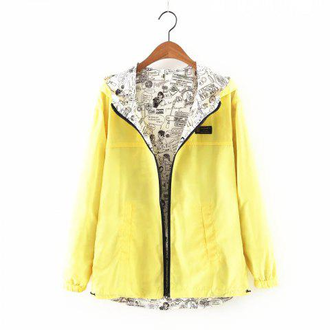 Discount New Zipper  on Both Sides Coat