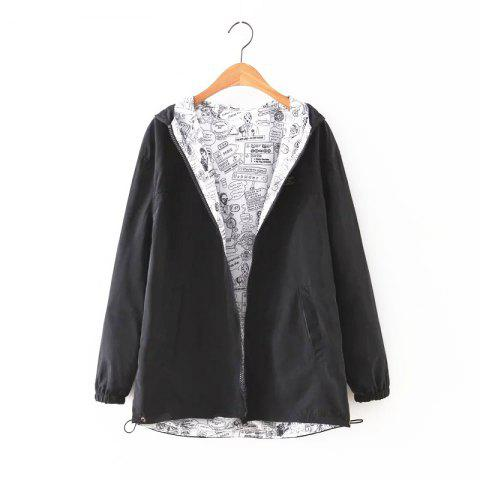 Chic New Zipper  on Both Sides Coat