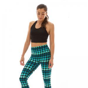 Women's Sports 3D Printing Stripe Stretch Leggings -