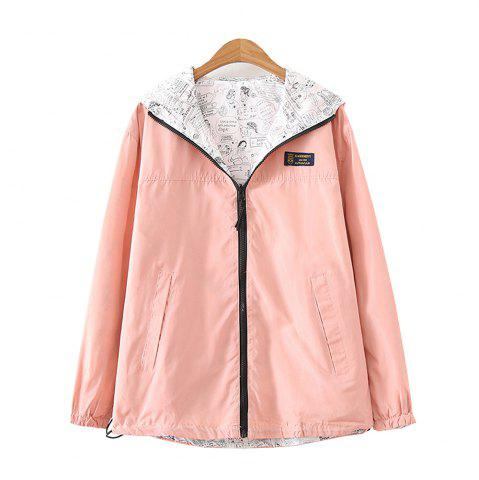 Best Women's Jacket Long Sleeve Hooded Solid Color Zippered Outwear