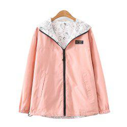 Women's Jacket Long Sleeve Hooded Solid Color Zippered Outwear -