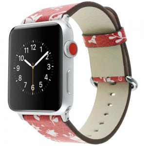 38 mm Genuine Leather Replacement for iWatch Series 3/2/1 Beautiful Beautiful Christmas -