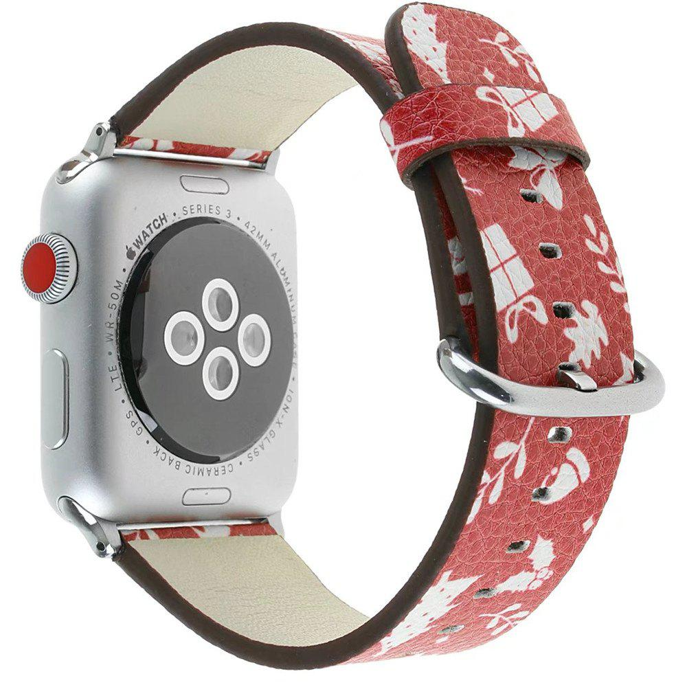Best 38 mm Genuine Leather Replacement for iWatch Series 3/2/1 Beautiful Beautiful Christmas