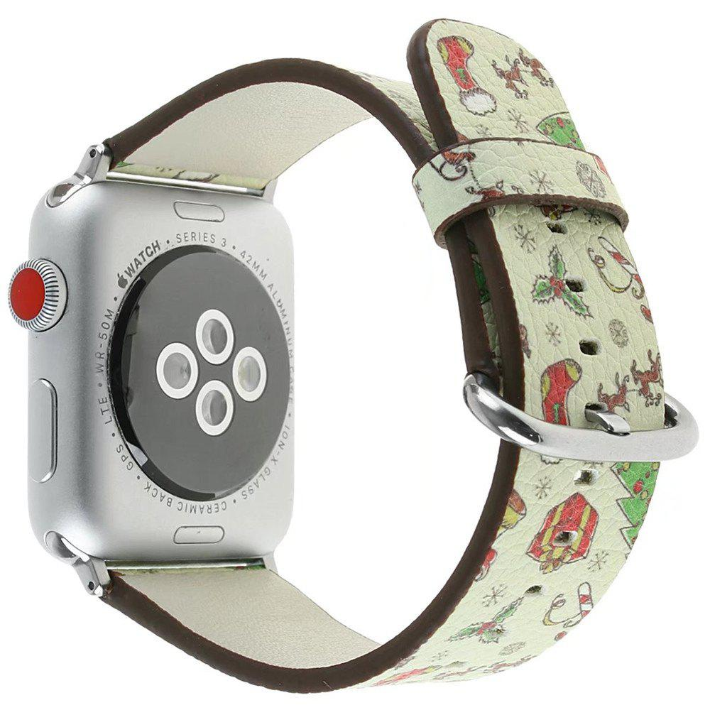 Buy 38 mm Genuine Leather Replacement for iWatch Series 3/2/1 Beautiful Beautiful Christmas