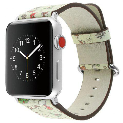 Discount 42mm Genuine Leather Replacement for iWatch Series 3/2/1 Beautiful Beautiful Christmas