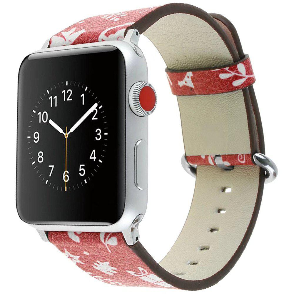 Shops 42mm Genuine Leather Replacement for iWatch Series 3/2/1 Beautiful Beautiful Christmas