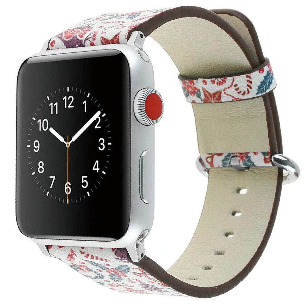 Latest 42mm Genuine Leather Replacement for iWatch Series 3/2/1 Beautiful Beautiful Christmas