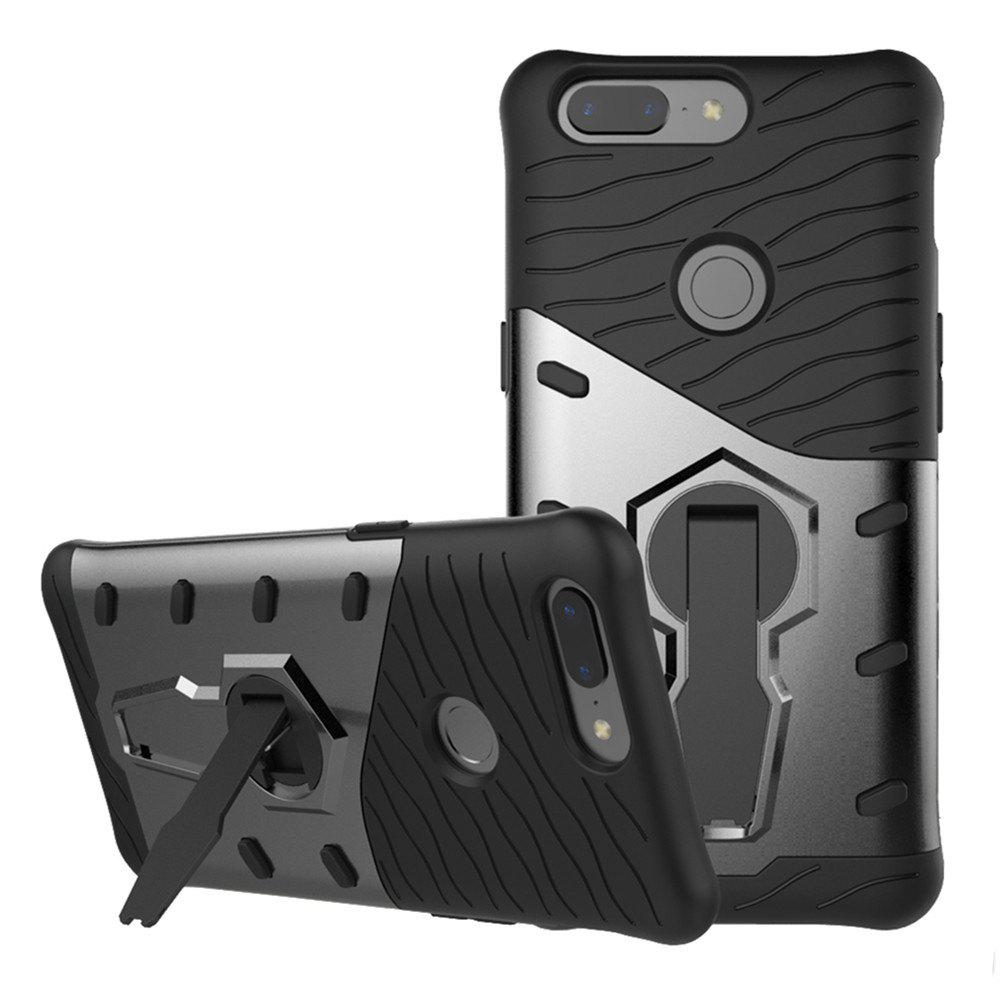 Best Cover Case for OnePlus 5T  Dual Layer Heavy Duty Hybrid Combo Shock-Resistant  Full Body Protective with 360 Degree Rota