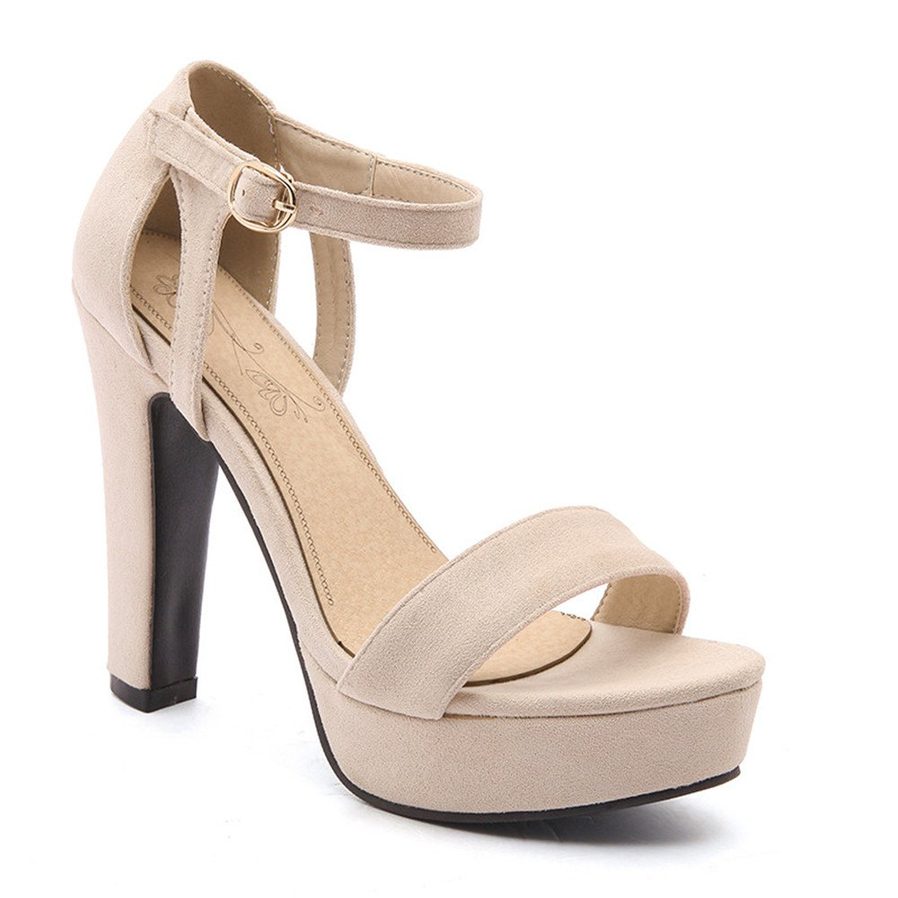 Shop Miss Shoe BK533 High Heel Fish Mouth and Peep-Toe Sandals