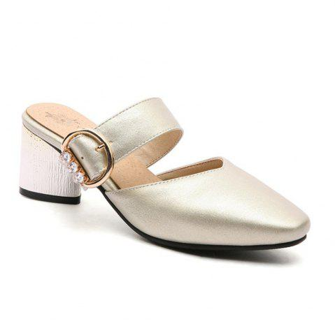 Hot Miss Shoe BK599 Thick and Square Hollow Single Shoes