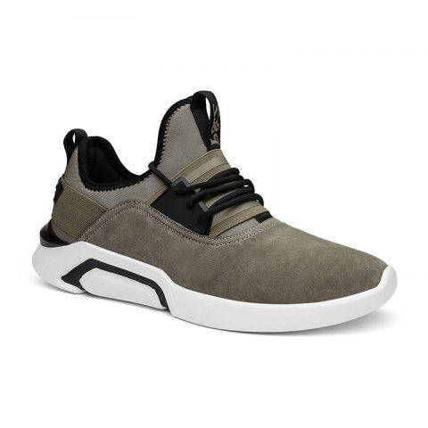 Latest Four Seasons Pigskin Rubber Sole Sports Running Shoes
