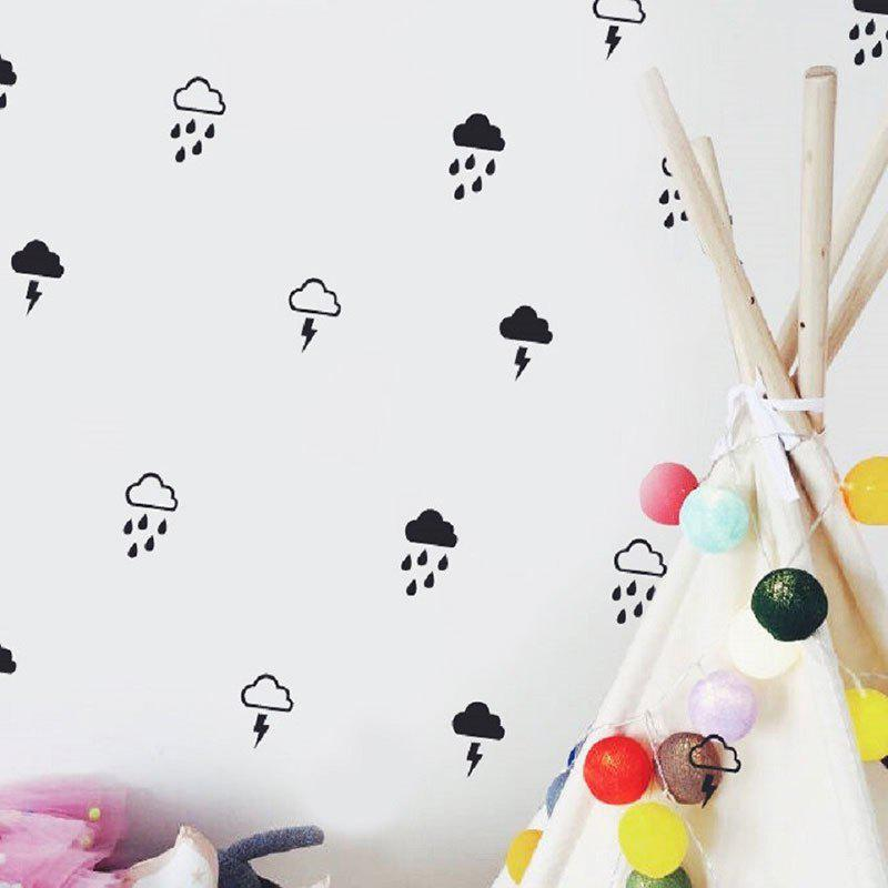 Cloud Rain And Lightning Wall Art Sticker For Kids Room Decoration DIY Home Decal 250450401