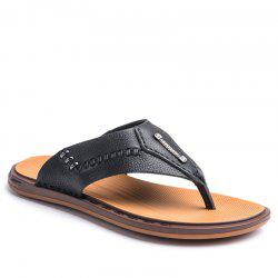 Street Fashion Cowhide Men Flip Flops -