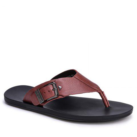 Cheap Summer Men'S Leather Slippers Sandals Good Quality Outdoor Leather Slippers