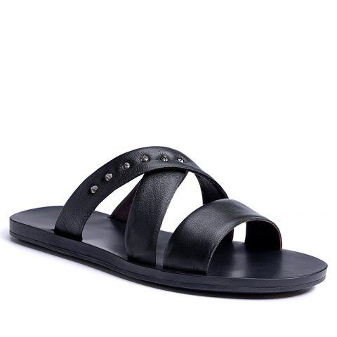 Outfits Hot Sale Outdoor Comfortable Fashion Beach Slippers Soft Upper Leather Men Sandals