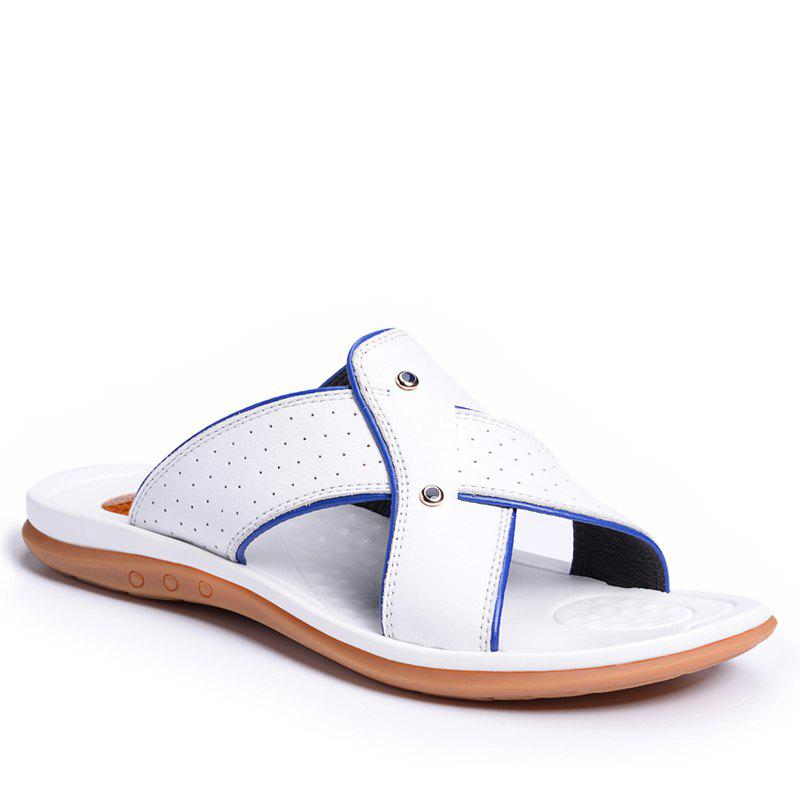 Buy 2017 Summer Men'S Leather Slippers Sandals Good Quality Outdoor Leather Slippers