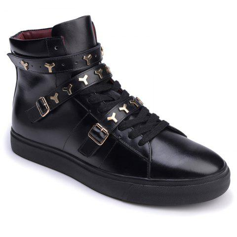 Fashion Men Casual Fashion Outdoor Leather Warm Shoes