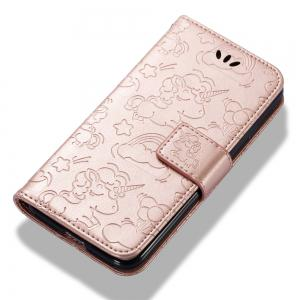 For IPHONE 7 Cartoon Embossed Horse And Cloud Two-sided Cell Phone Protection Sleeve -
