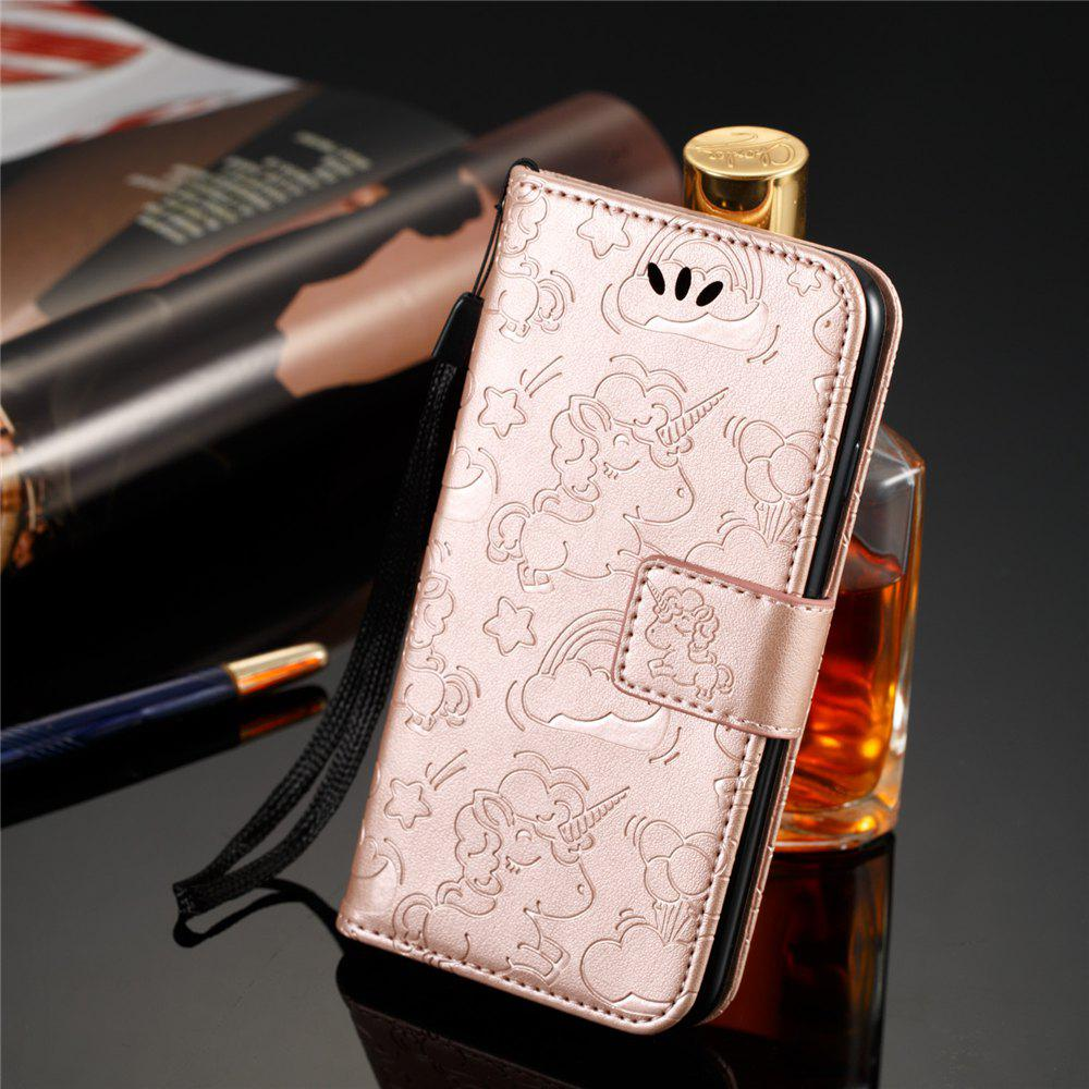 Latest For IPHONE 7 Cartoon Embossed Horse And Cloud Two-sided Cell Phone Protection Sleeve