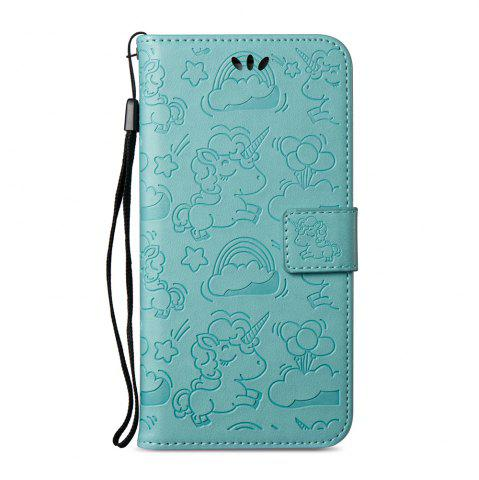 Fashion For Iphone 6plus Cartoon Embossed Horse And Cloud Two-sided Cell Phone Protection Sleeve