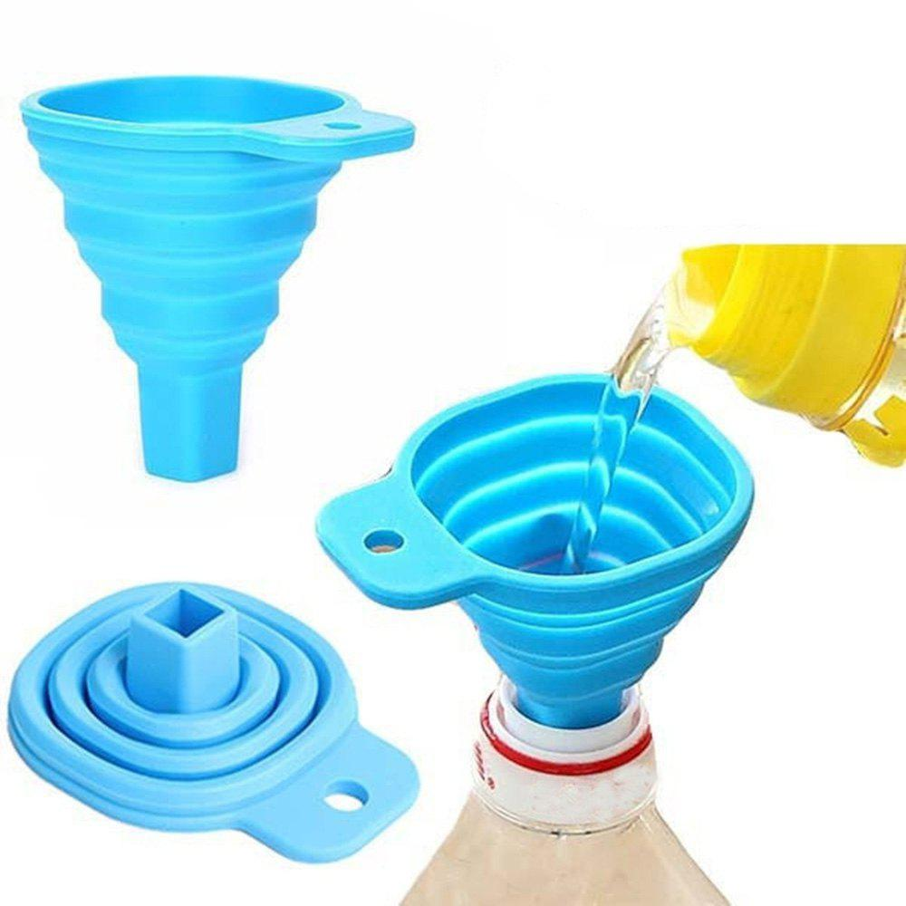 Affordable Retractable Funnels Home Kitchen Funnel Convenient Storage