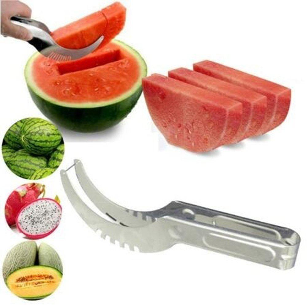 New Watermelon Cutter Knife Cucumis Melon Cutter Chopper Fruit Salad Cucumber Vegetable Fruit Slicers Kitchen Cooking Tools