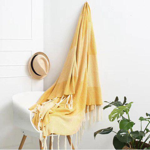 Discount Sofa Leisure Tassel Knitted Cotton Blanket