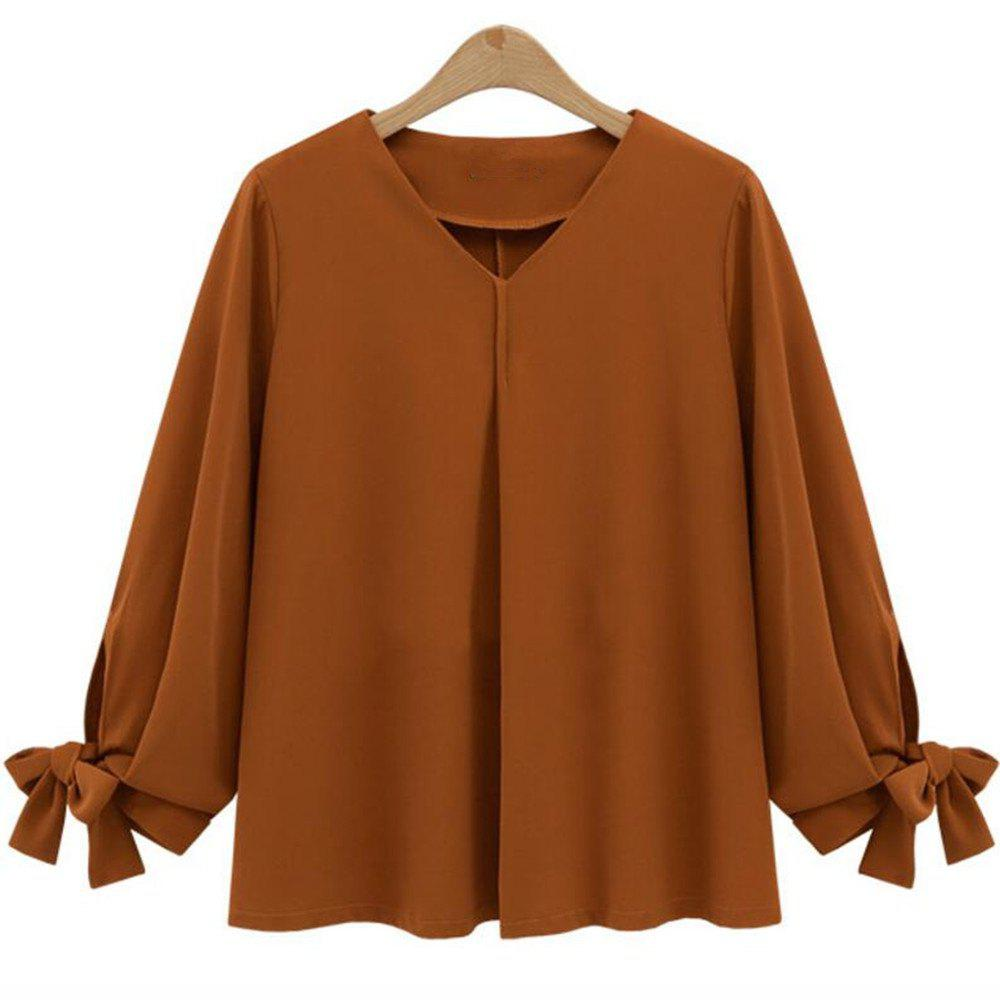 Latest 2018 Spring New Plus Size Shirt Chiffon Shirt