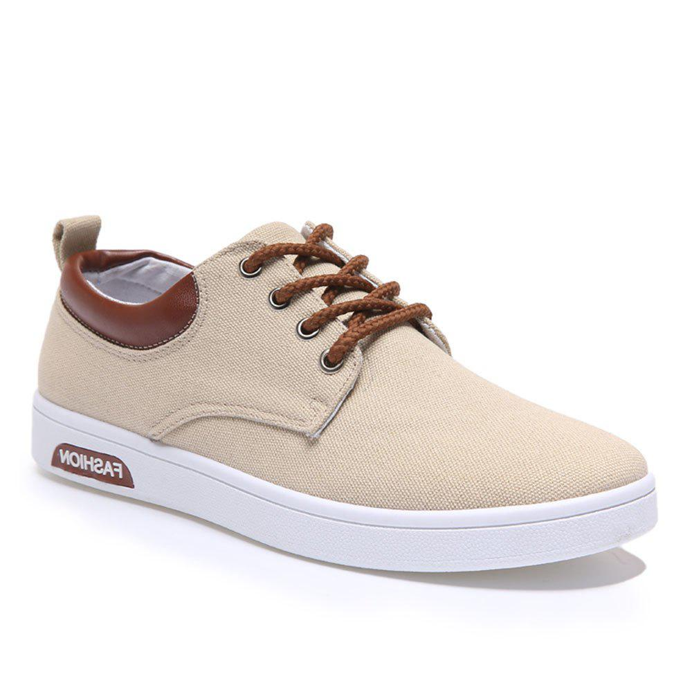 Chic Men'S Spring Breathable Lace Up Student Canvas Leisure Shoes