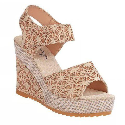 Trendy Wedge And Fish-mouthed Platform Heels For Platform Sandals