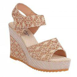 Wedge And Fish-mouthed Platform Heels For Platform Sandals -