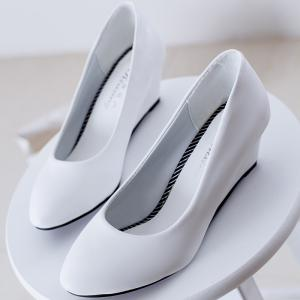 Round Head Pod-heel Shoes Comfort Large Size Women's Shoes -