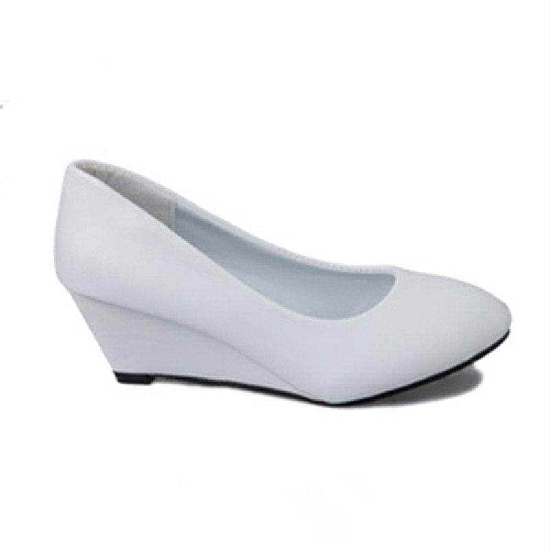 Unique Round Head Pod-heel Shoes Comfort Large Size Women's Shoes