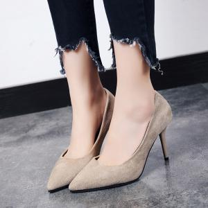 Spring and Autumn New Style Suede Temperament Sexy Single Shoes -