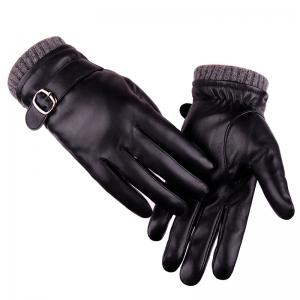 Touch Screen Lovers Glove Men Winter Imitation Dermis Pu Riding Bicycle Waterproof Outdoor Cashmere Lady Glove -
