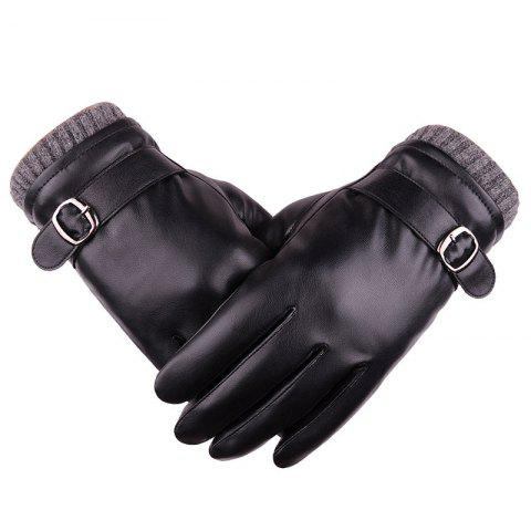 Affordable Touch Screen Lovers Glove Men Winter Imitation Dermis Pu Riding Bicycle Waterproof Outdoor Cashmere Lady Glove