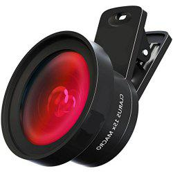 Camera Lens Pro Macro Lens  Wide Angle Lens Kit with LED Light Clip-On Cell Phone Camera Lenses for iPhone Android -