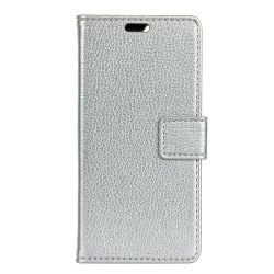 Cover Case For Sony Xperia XZ1 Litchi Pattern PU Leather Wallet Case -