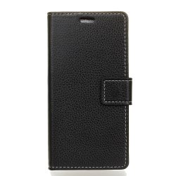 Cover Case For Wiko Lenny 4 Plus Litchi Pattern PU Leather Wallet Case -