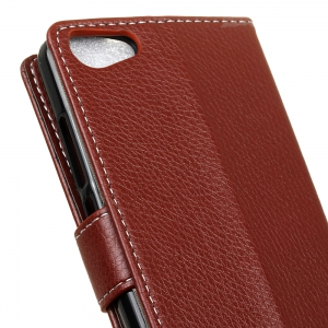 Cover Case For Wiko Jerry K-Kool Litchi Pattern PU Leather Wallet Case -
