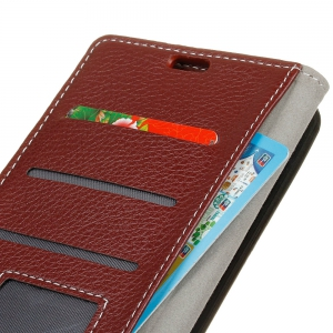 Cover Case For Wiko Jerry Max Litchi Pattern PU Leather Wallet Case -